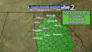 Flash Flood Watch continues for much of Georgia