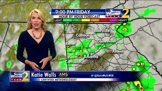 Scattered storm remain throughout Friday evening