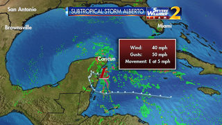 Subtropical Storm Alberto forms in the Gulf of Mexico