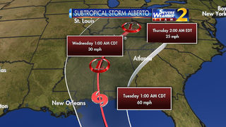 Wet holiday: Alberto forms one week before the start of hurricane season