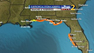 Tropical Storm Warnings issued along parts of Gulf Coast ahead of Alberto