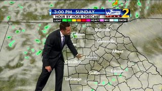 Showers, clouds ahead Sunday morning