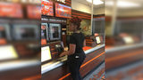 A customer said she learned a pizza employee posted a picture of her in the store after she complained about her pizza order.