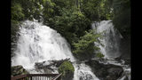 Visit rare double waterfall in north Georgia