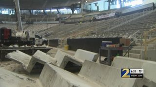 Philips Arena shows off progress on nearly $200 million renovation