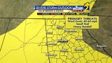 Severe Storm Outlook for Sunday