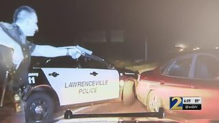 Several police cars damaged after chases in Lawrenceville, police say