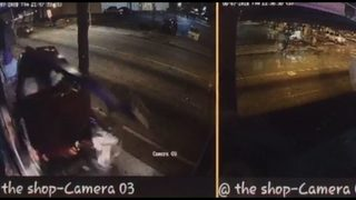 Driver shot in head, cyclist hit by truck in random shooting near mall