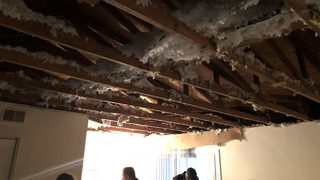 Apartment ceiling collapses during birthday party, residents say