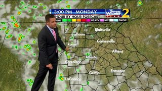 Partly cloudy, hazy humidity to start your Monday