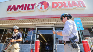 Fire breaks out in aisle of Family Dollar store