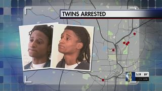 Identical twins accused of armed robberies across the metro speak exclusively to Channel 2