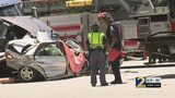 Crews work to clear deadly crash on I-285