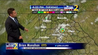 Temperatures climb into 90s early Tuesday evening