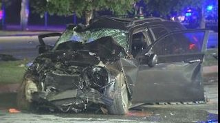 3 injured in crash after driver runs red light, police say