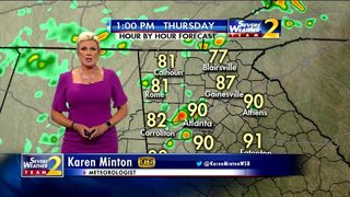 Rain chances increase this afternoon