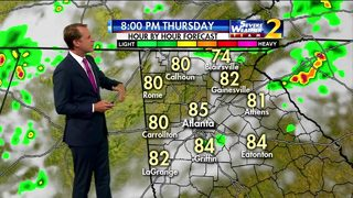 Isolated severe storms possible Thursday afternoon