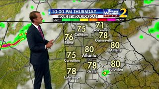 Storms to diminish throughout Thursday night