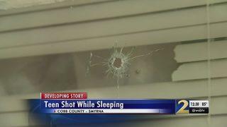 Teen shot while sleeping, police say