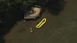 Emergency crews training in Chattahoochee rescue 5 people from the river