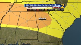 Showers, storms hitting parts of metro Atlanta