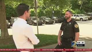 Off-duty officer saves boy drowning in pool