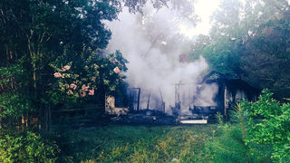 Fire tears through Marietta home