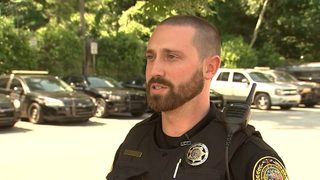 Off-duty police officer saves drowning child