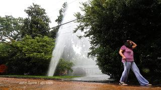 Watermain break creates geyser in neighborhood