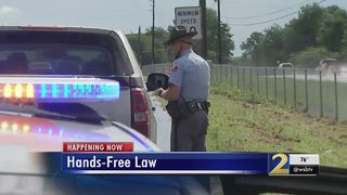 Troopers pull over 100+ drivers on 1st day of hands-free law