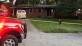 Scene of a fire at a house on  Harvel Drive  in northwest Atlanta early Tuesday morning.