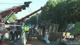 Semi truck driver recovering after fiery big rig crash
