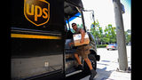 A United Parcel Service driver delivers packages on July 22, 2010 in Glendale, Calif. UPS said its 2nd quarter profit nearly doubled posting a net profit of $845 million, compared to $445 million a year ago. (Photo by Kevork Djansezian/Getty Images)