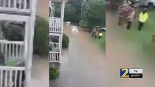 Flash flooding forces evacuations at Clayton County apartment complex