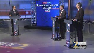 Debate between GOP gubernatorial rivals heats up