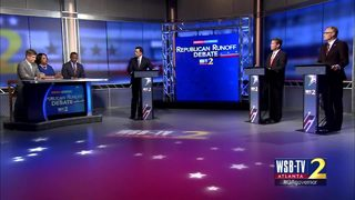 GOP gubernatorial rivals trade jabs at debate before runoff