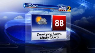 Slow-moving storms possible again Sunday