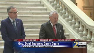 Gov. Deal officially endorses Lt. Gov. Casey Cagle for governor