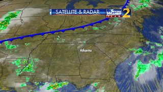 Scattered showers, storms again on tap for Tuesday