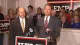 Former state Sen. Hunter Hill, who finished third in the GOP primary election for governor, stood beside Kemp at his Buckhead campaign office and gave him his endorsement.
