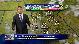 Partly cloudy skies, warm temps for Wednesday