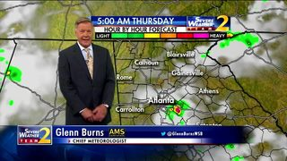 Isolated showers on tap for Thursday morning