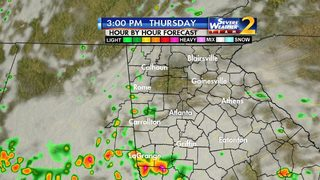 Chance of rain today, strong to severe storms later this week