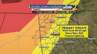 Strong to isolated severe storms possible Friday night