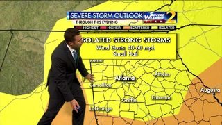 Chance of storms Saturday afternoon and evening