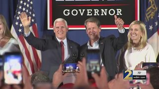 Vice President Mike Pence comes to Georgia to stump for Brian Kemp