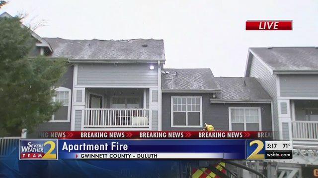 ATLANTA WEATHER LIVE UPDATES: Firefighters battling several