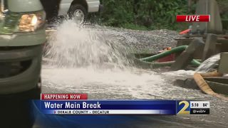 Crews working to repair water main break