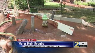 Water main break floods DeKalb County neighborhood