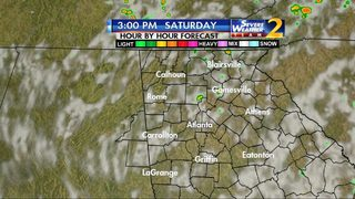 Scattered showers, storms possible Saturday afternoon